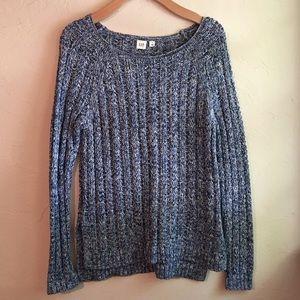 GAP : blue/black/white sweater